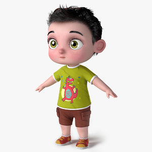cartoon baby toddler 3D