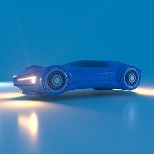 3D futuristic transport vehicle