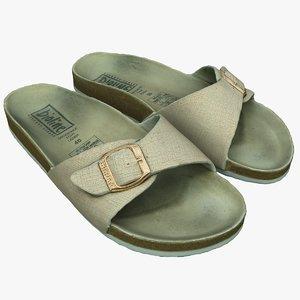 3D slippers sandals model
