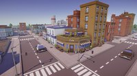 Low Poly Cartoon City