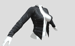 3D female clothes v2 model