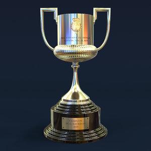 3D copa del rey model