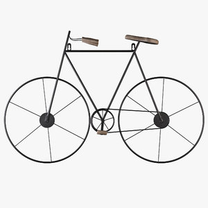 3D model sport bicycle wall decor