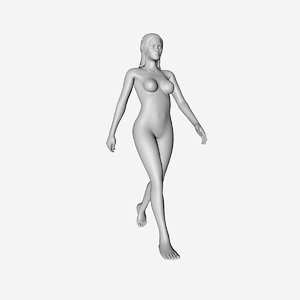 3D model elf statue
