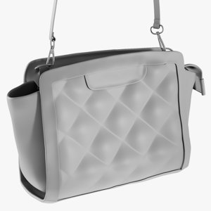 base mesh ladies handbag 3D model