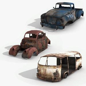 junkyard vol 3 vehicles 3D model