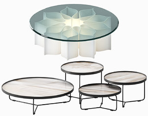 coffee table sets 3D model