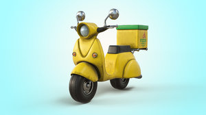 vespa vehicle animation 3D model