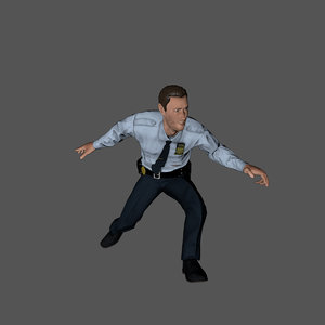 3D police officer character