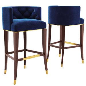 bourbon bar stool brabbu 3D