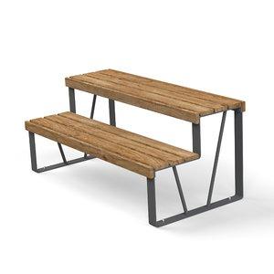 3D model double outdoor elements