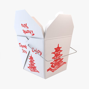 chinese takeout box 3D model