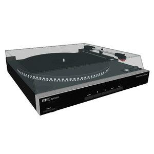 3D turntable vinyl record