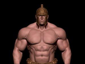 3D bodybuilder anatomy fighter