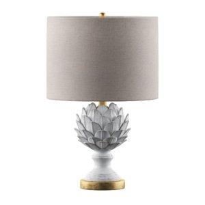 leafy artichoke ceramic table lamp 3D model