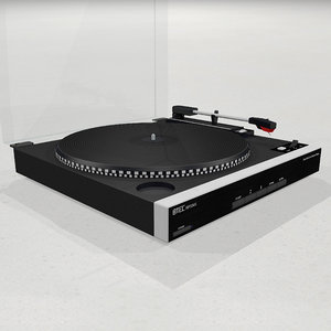 turntable vinyl record 3D model