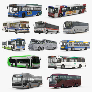buses 10 bus 3D