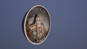 city hall chisinau moldova 3D model