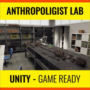 3D anthropologist lab unity model