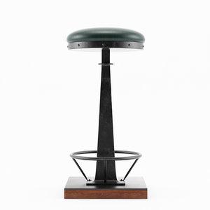 3D model truman bar stool