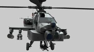 military helicopter 3D