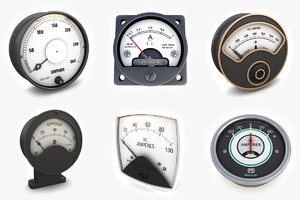 vintage analog ammeters vol1 3d 3ds