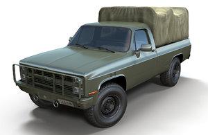3D chevrolet k30 1985