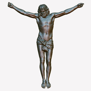 3d crucifixion sculpture-relief model