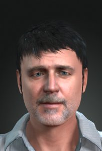 3D russell crowe character design model