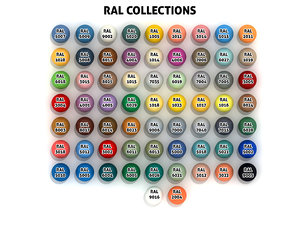 3D ral code collections materials