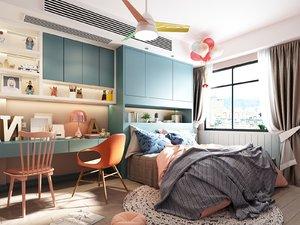 3D child bedroom room