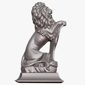 3d model sculpture lion