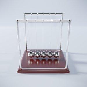 newton cradle 3D