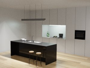 concept minimalist kitchen 3D model
