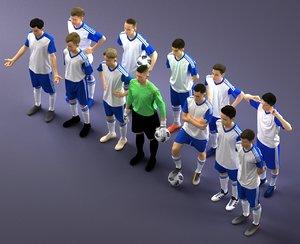 soccer team 3D