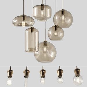 3D pendant lights vilmo lamps