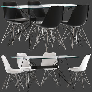 cultfurniture eames dinning chair seat 3D model