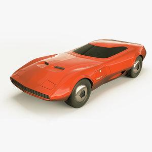 3D dodge charger concept 01 model