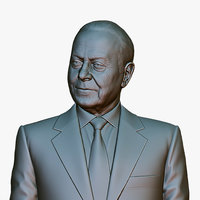 Heydar Aliyev Relief-1 with Tie for 3D printing \ CNC milling