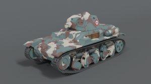 renault r35 tank 3D