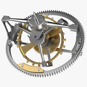 greubel forsey double tourbillon 3D model