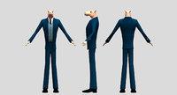 camel boss man cartoon 3d model