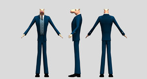 3D model camel boss man