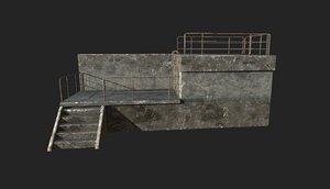 concrete guard post model