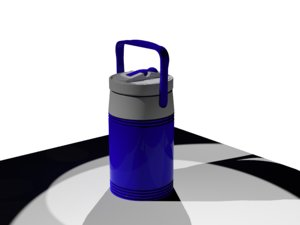 3D thermos water model