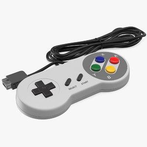 gamepad console joystick 3D