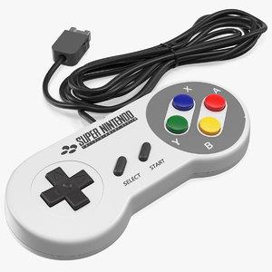 nintendo snes joystick controller model