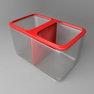 3D model betta aquarium tank