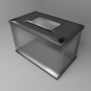 3D model rectangular aquarium