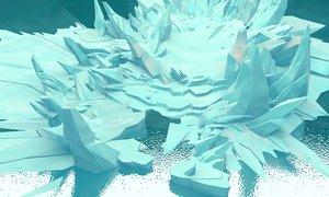 cartoon iceberg ice cave 3D model